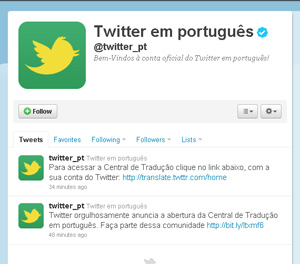 twitter portugues