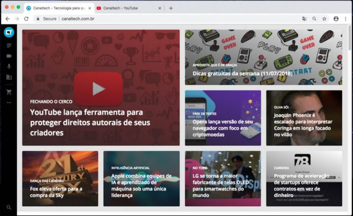 novo google chrome