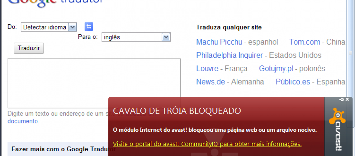 Cavalo de Troia no Google Translate